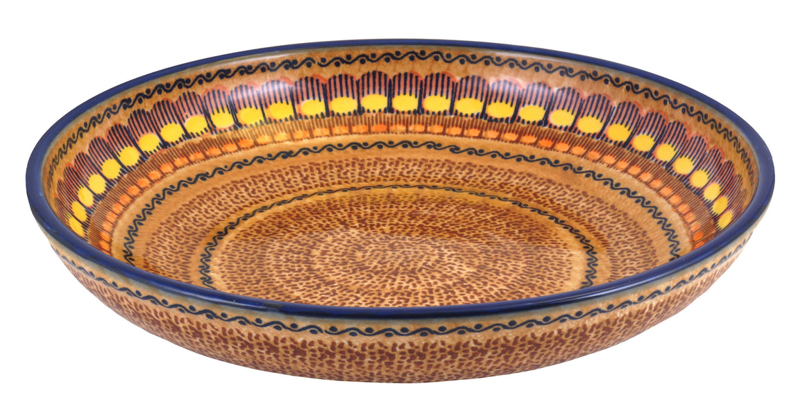 "11.75"" Shallow Salad Bowl (Desert Sunrise)"