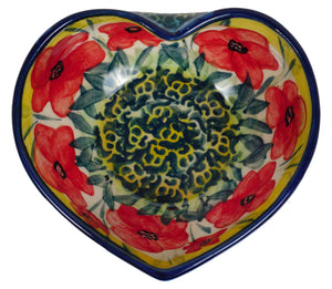 Small Heart Bowl (Poppies in Bloom)