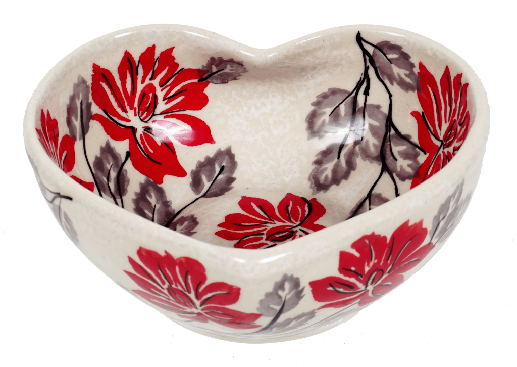 Small Heart Bowl (Evening Blossoms)