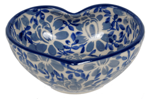Small Heart Bowl (English Blue)