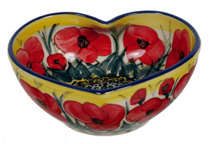 Medium Heart Bowl (Poppies in Bloom)