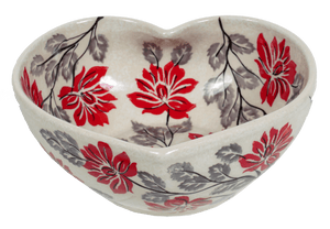 Medium Heart Bowl (Evening Blossoms)