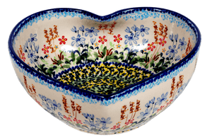 Large Heart Bowl (Pastel Garden)