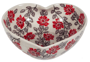 Extra Large Heart Bowl (Evening Blossoms)
