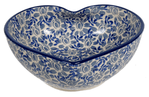 Extra Large Heart Bowl (English Blue)
