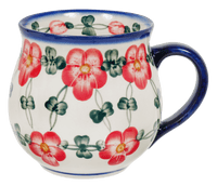 Large Belly Mug (Red Tethered Blossoms)