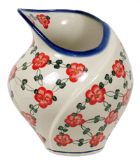 Shell-Shaped Vase (Red Tethered Blossoms)