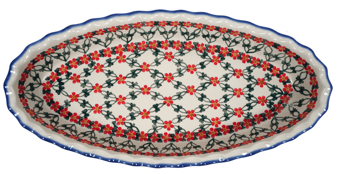 Large Scalloped Baker (Red Lattice)
