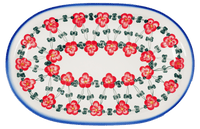 Oval Serving Platter (Red Tethered Blossoms)