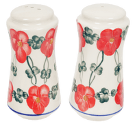 Salt & Pepper Shakers (Red Tethered Blossoms)
