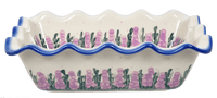 Scalloped Rectangular Baker (Lavender in Bloom)