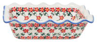 Scalloped Rectangular Baker (Red Lattice)