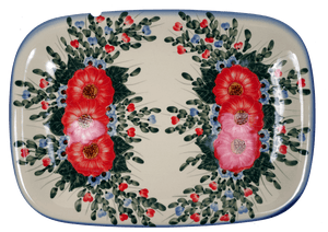 Rectangular Serving Platter (Elegant Bouquet)