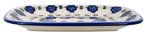 Rectangular Serving Platter (Blue Tethered Blossoms)