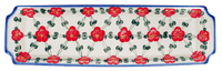 Long Rectangular Tray (Red Tethered Blossoms)