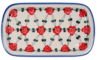 Shallow Serving Tray (Red Tethered Blossoms)