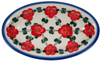 Medium Oval Dish (Red Tethered Blossoms)