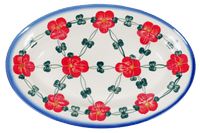 Large Oval Dish (Red Tethered Blossoms)