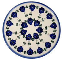 Pizza/Cake Plate (Blue Tethered Blossoms)