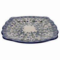 Fancy Edge Plate/Platter (Blue Cascade)