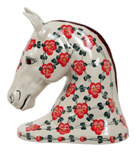 Horse Head Statue (Red Tethered Blossoms)
