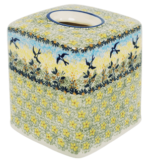 Tissue Box Cover (Soaring Swallows)