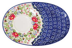 Soup & Sandwich/Breakfast Plate (Floral Fantasy)