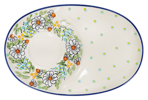 Soup & Sandwich/Breakfast Plate (Daisy Bouquet)
