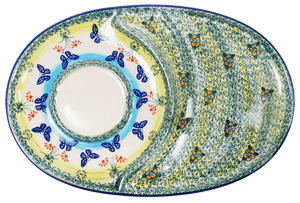 Soup & Sandwich/Breakfast Plate (Butterflies in Flight)