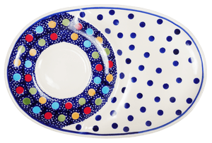 Soup & Sandwich/Breakfast Plate (Neon Dots)