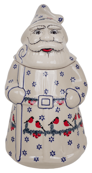 Santa Cookie Jar (Red Bird)