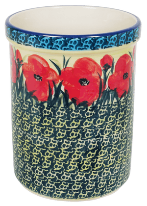 Utensil Holder/Wine Chiller (Poppies in Bloom)