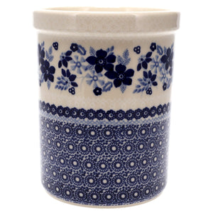 Utensil Holder/Wine Chiller (Duet in Blue & White)