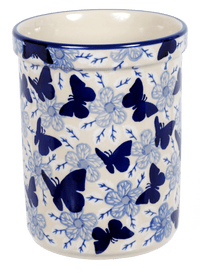 Utensil Holder/Wine Chiller (Blue Butterfly)
