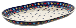 "12""x17"" Oval Roaster (Neon Dots)"