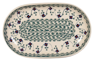 "7""x11"" Oval Roaster (Woven Pansies)"