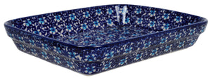 "8""x10"" Rectangular Baker (Blue on Blue)"