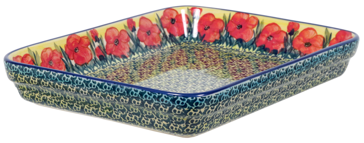 "9""x11"" Rectangular Baker (Poppies in Bloom)"