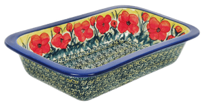 "7"" x 12"" Rectangular Baker (Poppies in Bloom)"