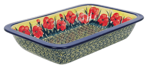 "8.25"" x 13.5"" Rectangular Baker (Poppies in Bloom)"