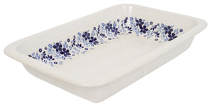 "9.75"" x 15"" Rectangular Baker (Duet Blue Wreath)"