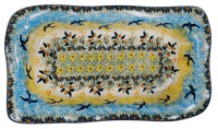 "6""x10.5"" Rectangular Wavy Baker (Soaring Swallows)"