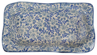 "6""x10.5"" Rectangular Wavy Baker (English Blue) 