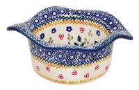 Wavy Baker/Dipping Bowl (Ruby Bouquet) | P129S-DPCS