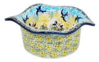 Wavy Baker/Dipping Bowl (Soaring Swallows)