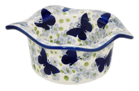 Wavy Baker/Dipping Bowl (Butterfly Migration)