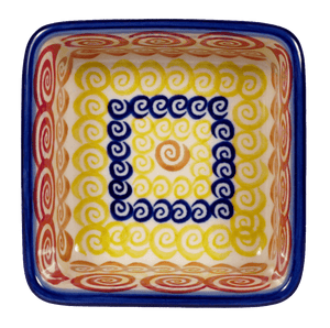 "3.5"" Square Baker (Psychedelic Swirl)"