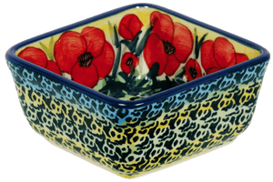 "3.5"" Square Baker (Poppies in Bloom)"