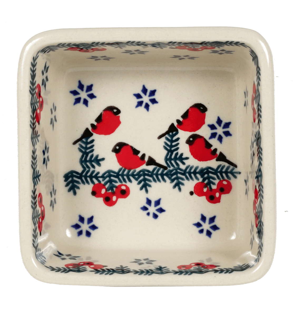 "3.5"" Square Baker (Red Bird)"