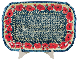 "11.5""x17"" Rectangular Platter (Poppies in Bloom)"